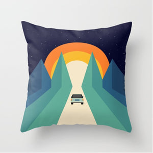 Roadtrip - Throw Pillow