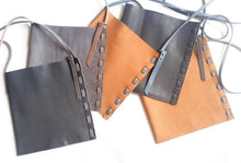 Leather Messenger Bag by Catherine K