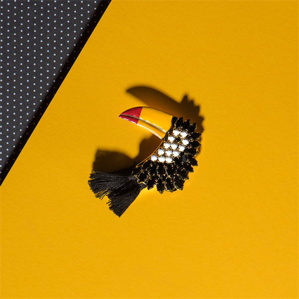 Toucan Brooch by Elsa O