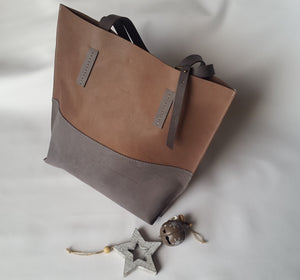 Leather Tote by Catherine K