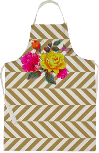 Gold Flower Apron by Rana Salam