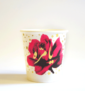 Stars & Roses Paper Cups by Rana Salam