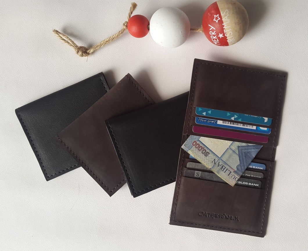 Leather Card Holder by Catherine K