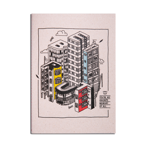 Beirut by Boo A5 Notebook by Art Of Boo X Btdt