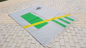 Green Eye Handmade Kilim Carpet by Sumak