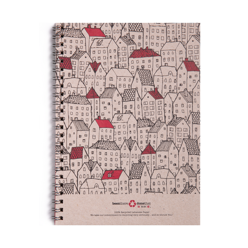 Rooftops A5 Notebook by Btdt