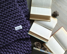 Merino Hand-knitted Wool Xtra Chunky Xl Blanket by Brinkleywool
