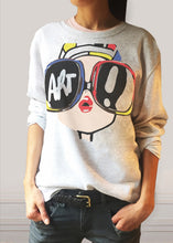 Art Loose Grey Sweatshirt