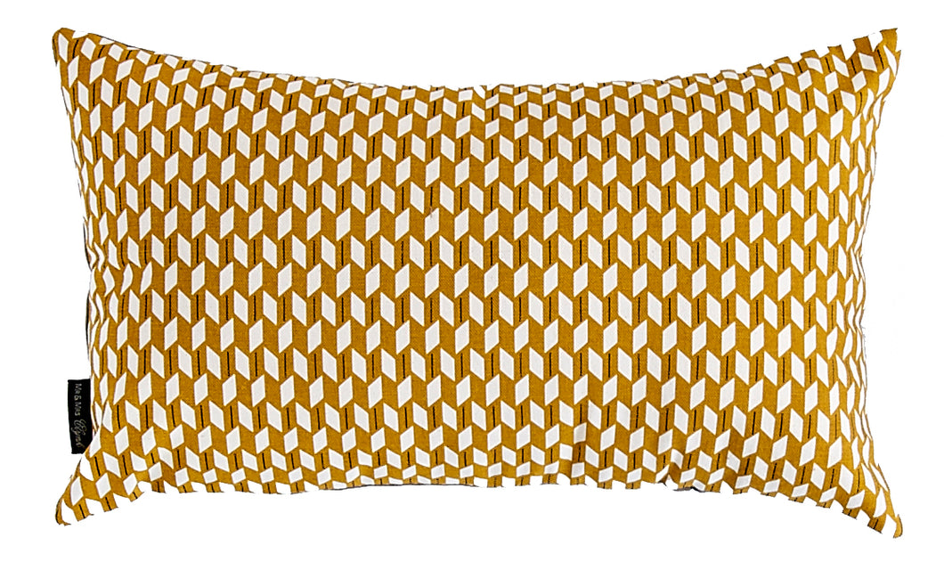 Mustard Graphical Rectangular Pillow