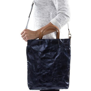 Otti Metallic Washable Paper Bag In Dark Blue (various colors)