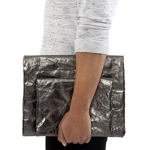 Maru Clutch Large Metallic Grey (various colors)