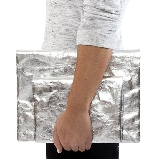 Maru Clutch Large Metallic Silver (various color)