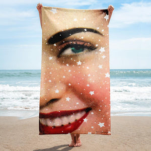 Wiz Ainak Beach Towel by Rana Salam