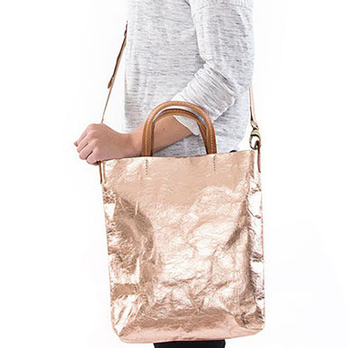 Otti Metallic Washable Paper Bag In Rose Gold