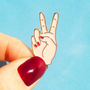 Peace In White Pin