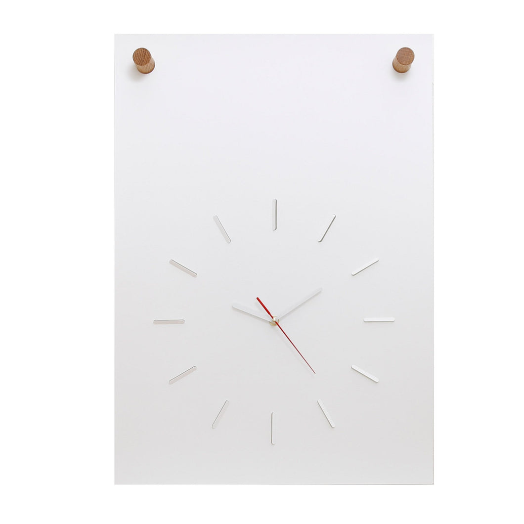 Poster Clock In White ( Various Colors)
