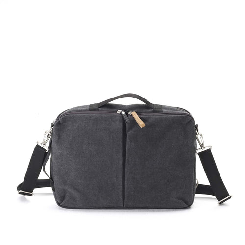 Washed Black Simple Office Bag