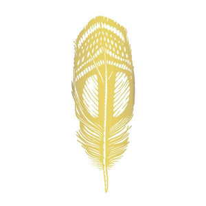 QUAIL FEATHER  TEMPORARY TATTOO