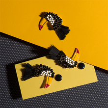 Toucan Long Earrings by Elsa O