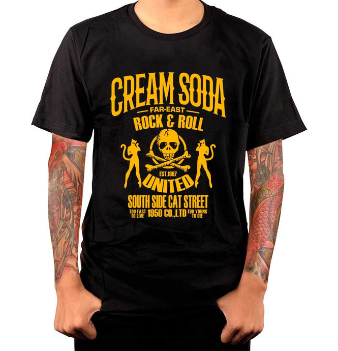Playera Calavera South - Cream Soda