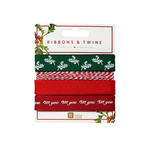 Botanical Christmas Ribbon & Twine
