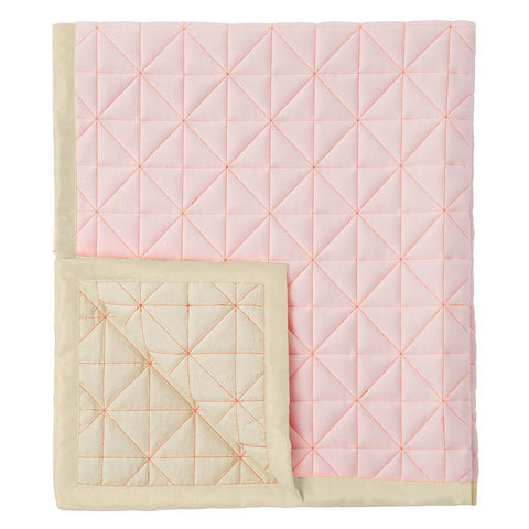 Pink Neon Coral Canvas Floor Mat