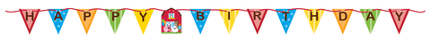 Farmhouse Birthday Banner Pennant