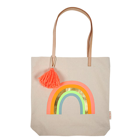 Canvas Rainbow Tote Bag