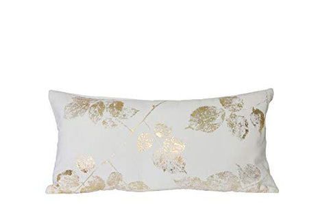 Gold Leaf Fabric Cushion