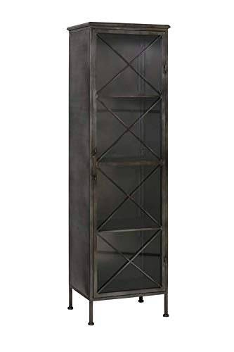 Floor Cabinet With Glass Door Zepita Raw Metal