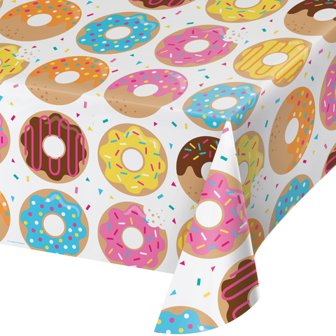 Donut Time Plastic Table Cover