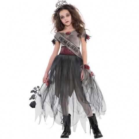 Teens Prombie Queen Zombie Costume - Age 14-16 Years