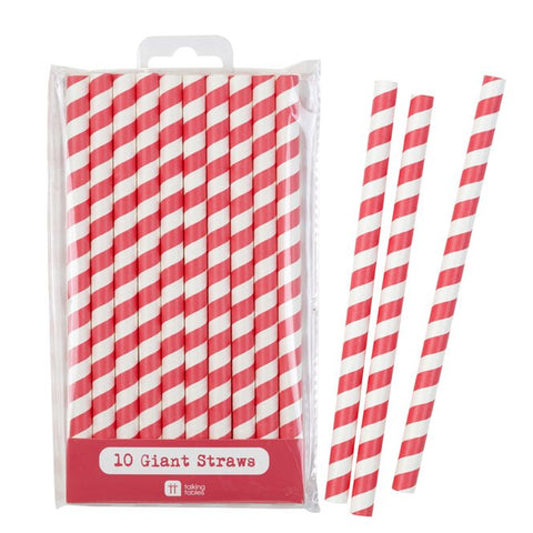 Giant Red Straws