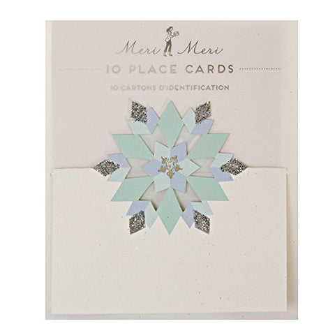 Glitter Snowflake Placecards, Set Of 10