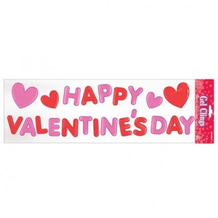 Happy Valentines Day Gel Clings