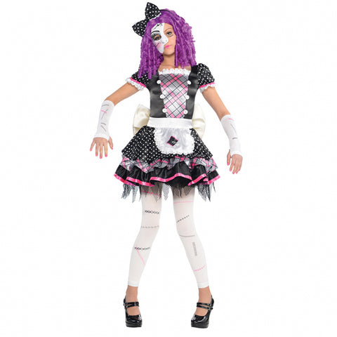 Amscan Kids Halloween Damaged Doll Girls Fancy Dress Party Costume