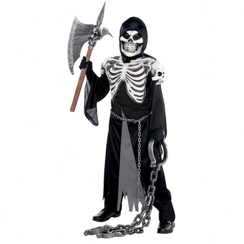 Children Crypt Keeper Skeleton Costume - Age 8-10 Years