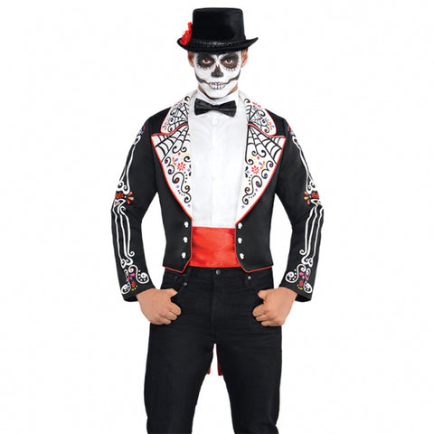 Amscan International Adults Day Of The Dead Tailcoat