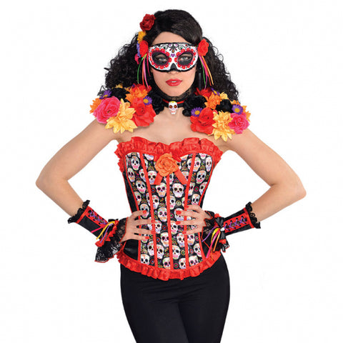 Adult Day Of The Dead Epaulettes & Collar Halloween Fancy Dress Accessory 843925
