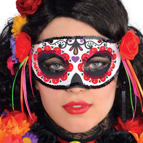 Adults Day Of The Dead Halloween Fancy Dress Costume Accessory Masquerade Mask