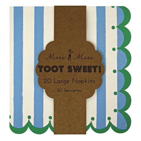 Meri Meri Toot Sweet Blue Large Napkins, 12