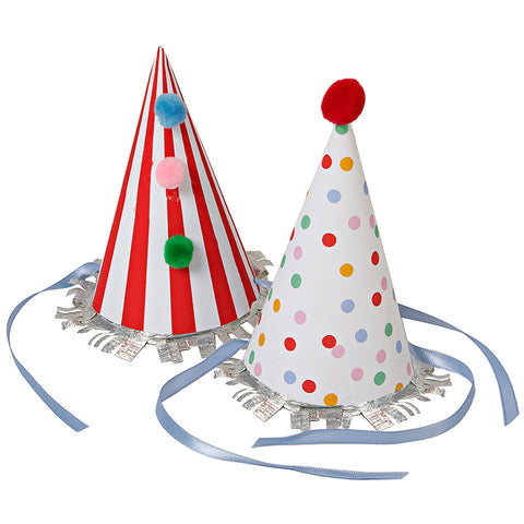 Meri Meri 8 Toot Sweet Childrens Birthday Party Paper Cone Hats