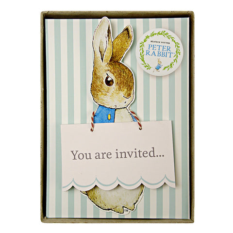 Pack Of 8 Peter Rabbit & Friends Party Invites