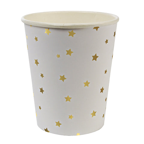 Toot Sweet Gold Stars Party Cups, Set Of 8