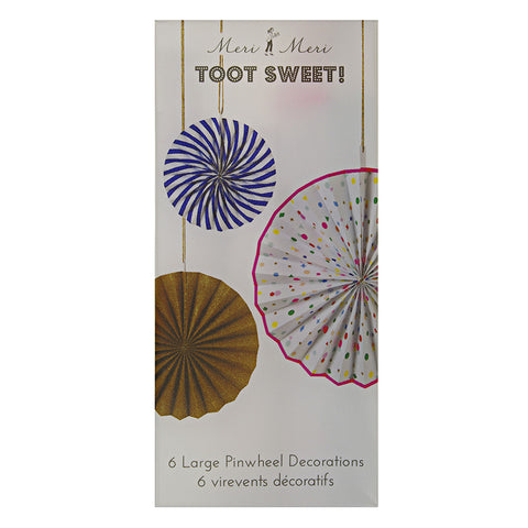 Toot Sweet Pinwheel Decorations
