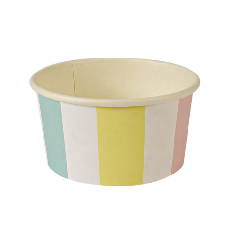 8 Toot Sweet Carousel Icecream Candy Tub, Yellow Green Pink
