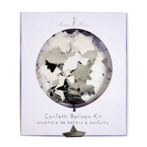 Silver Party Confetti Balloon Kit By Meri Meri