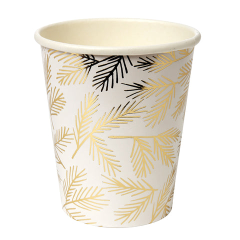 Gold Pine Party Cups By Meri Meri