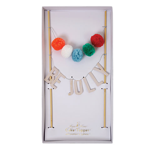 Meri Meri Be Jolly Pom Pom Christmas Cake Topper