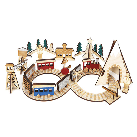 Wooden Train Advent Calender